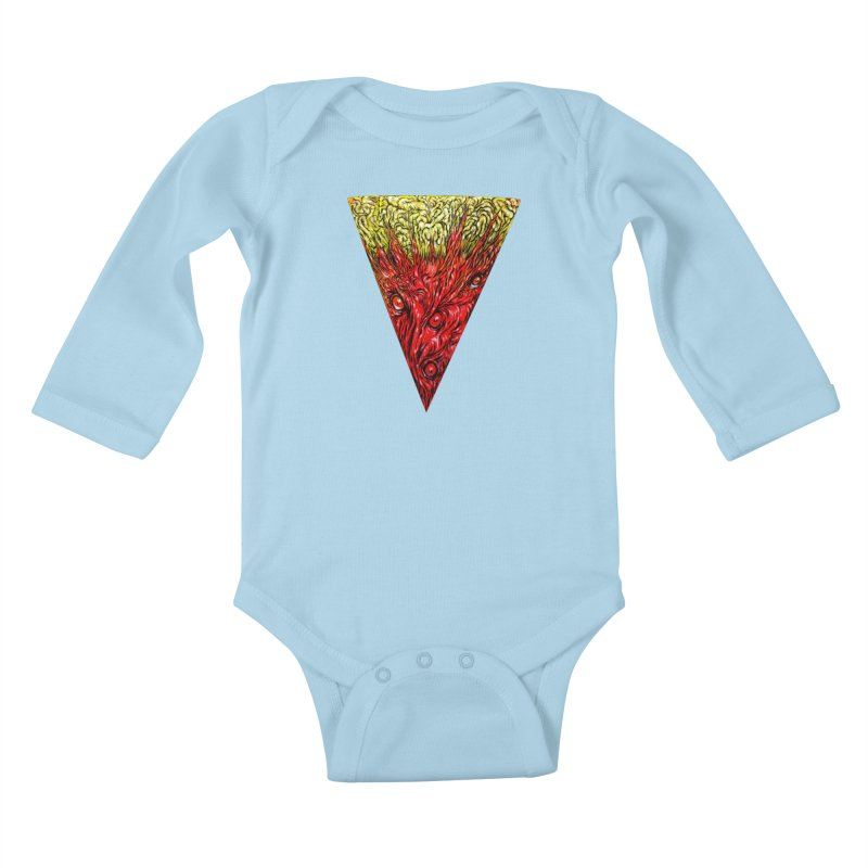 Nefarious Slice Kids Baby Longsleeve Bodysuit by Nick the Hat