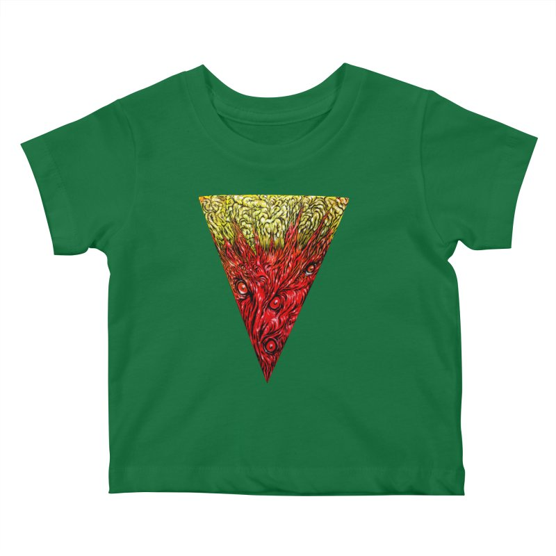 Nefarious Slice Kids Baby T-Shirt by Nick the Hat