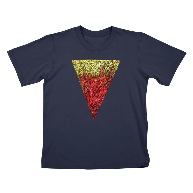 Nefarious Slice Kids T-Shirt by Nick the Hat