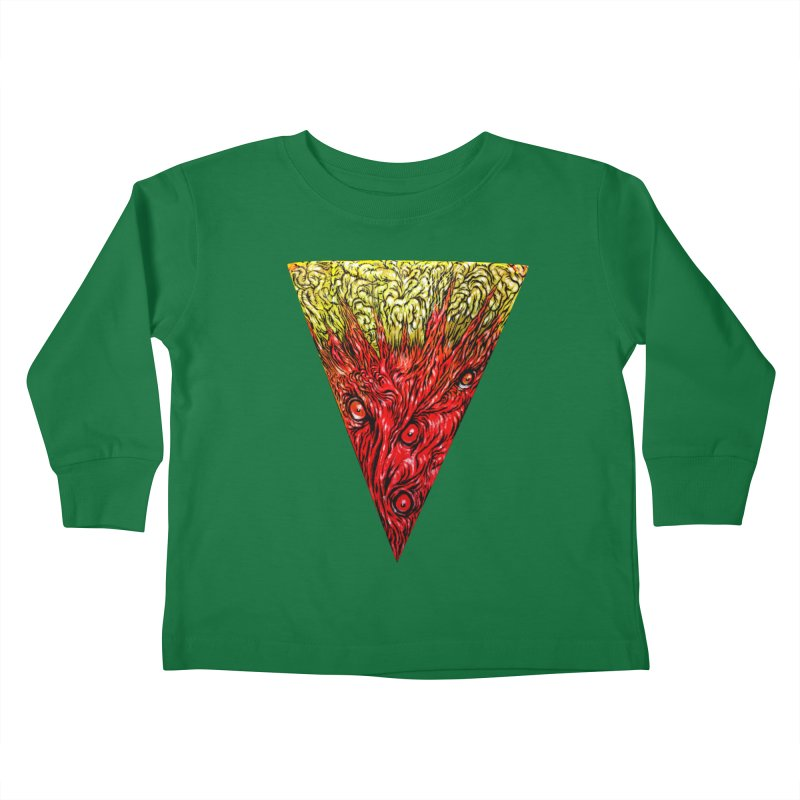Nefarious Slice Kids Toddler Longsleeve T-Shirt by Nick the Hat