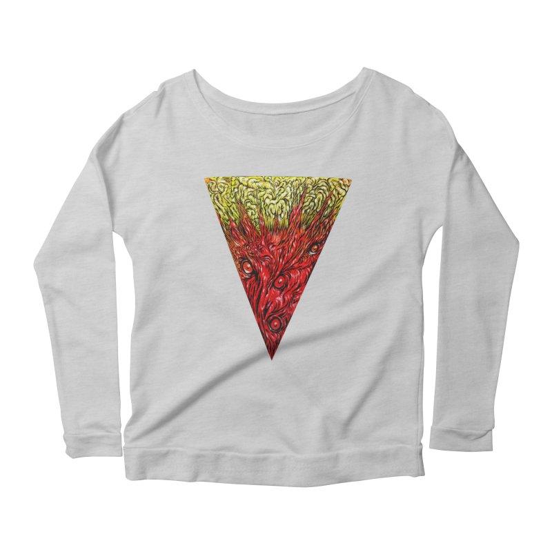 Nefarious Slice Women's Scoop Neck Longsleeve T-Shirt by Nick the Hat