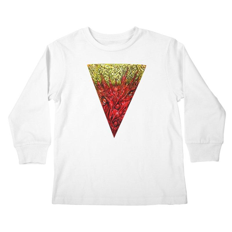 Nefarious Slice Kids Longsleeve T-Shirt by Nick the Hat