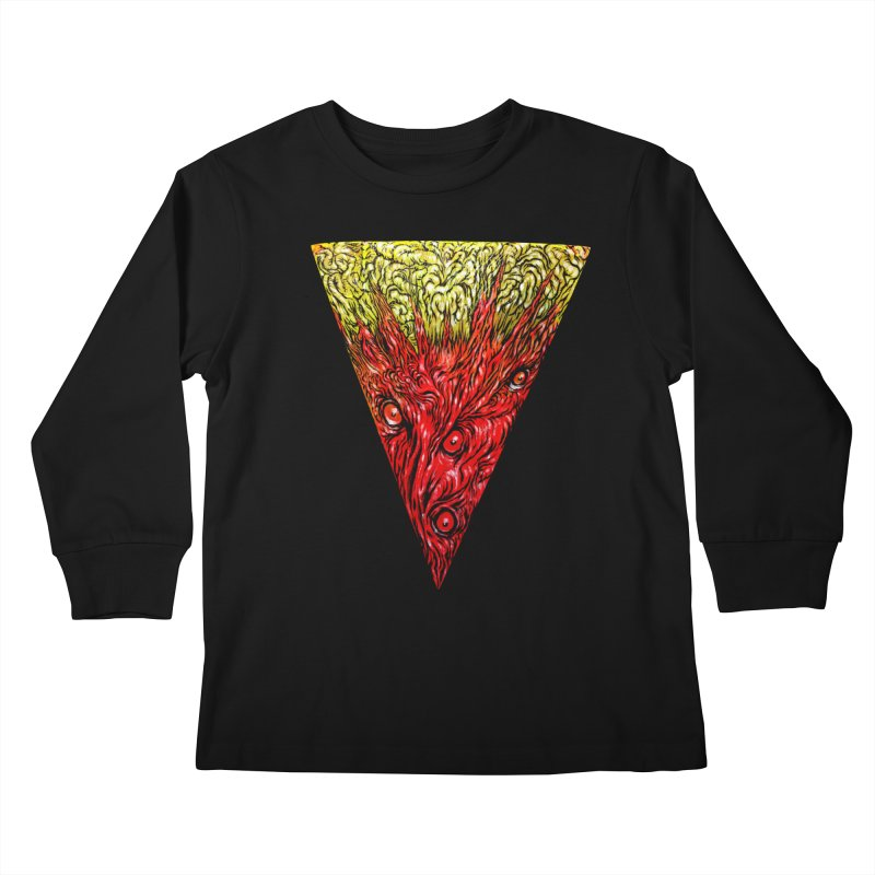 Nefarious Slice Kids Longsleeve T-Shirt by Nick the Hat