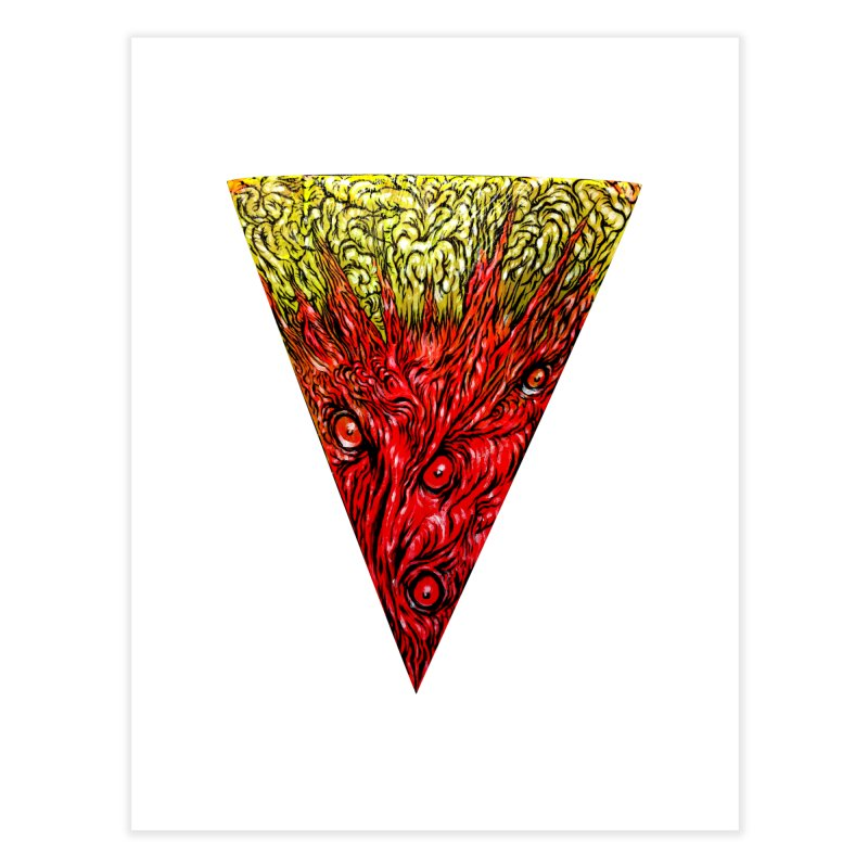 Nefarious Slice Home Fine Art Print by Nick the Hat