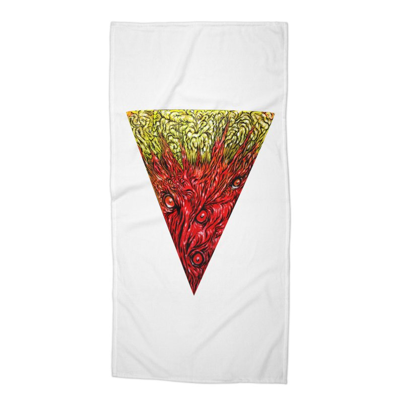 Nefarious Slice Accessories Beach Towel by Nick the Hat