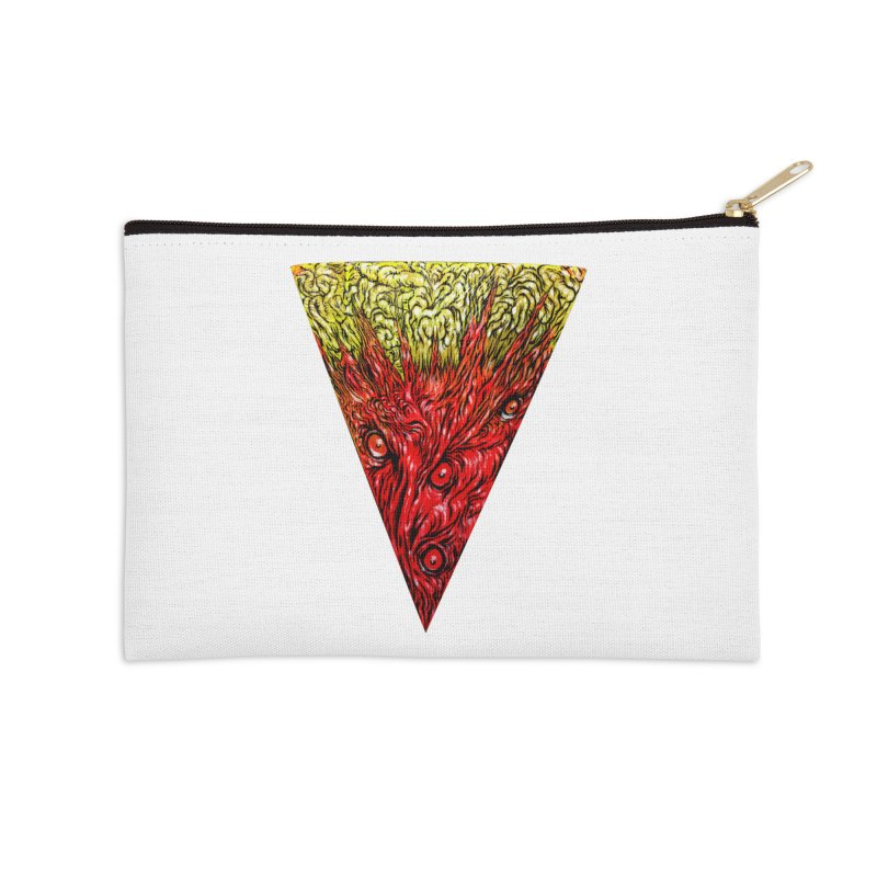 Nefarious Slice Accessories Zip Pouch by Nick the Hat