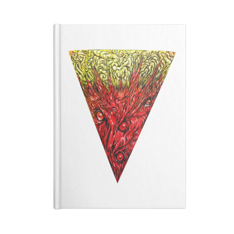 Nefarious Slice Accessories Blank Journal Notebook by Nick the Hat