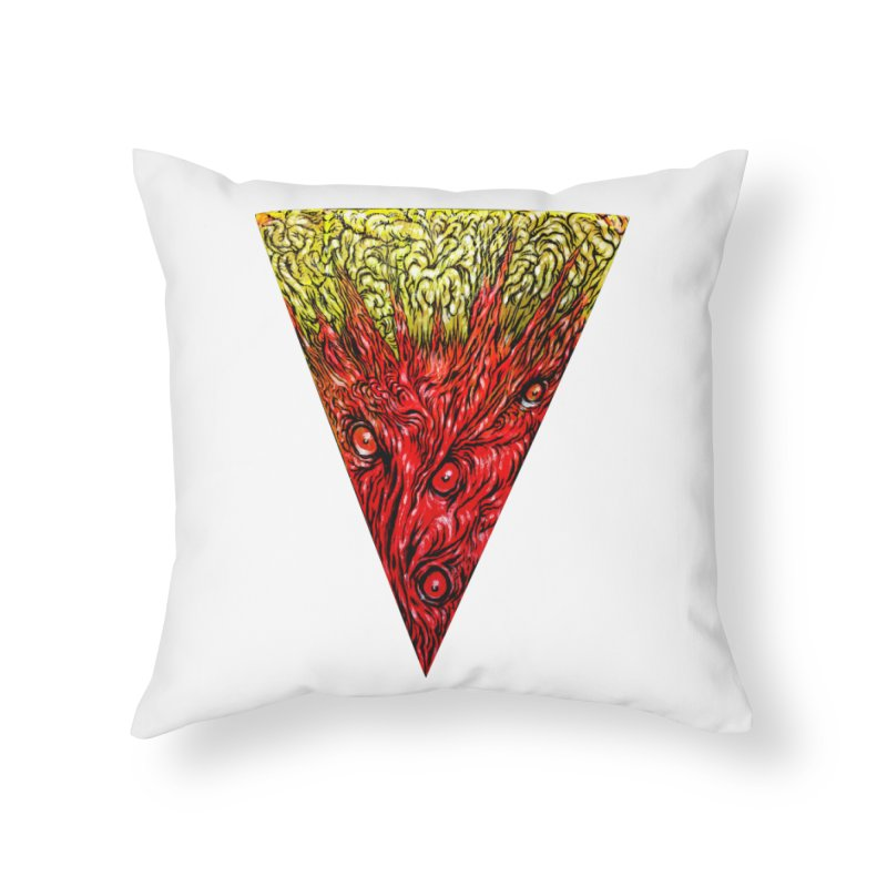 Nefarious Slice Home Throw Pillow by Nick the Hat