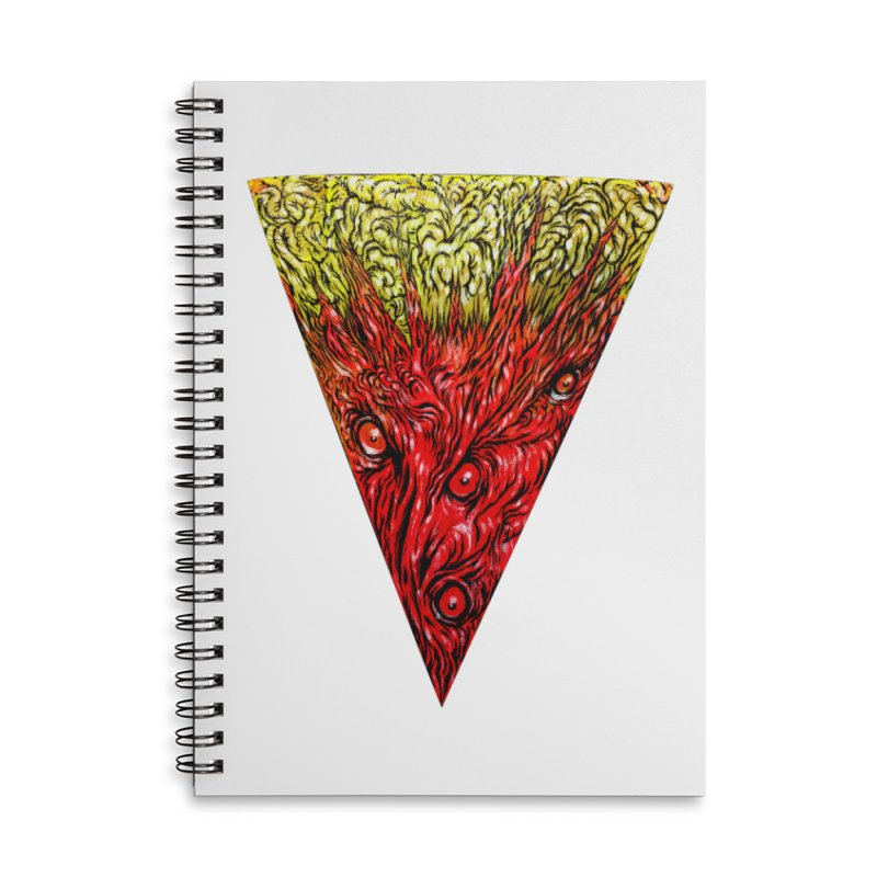 Nefarious Slice Accessories Lined Spiral Notebook by Nick the Hat