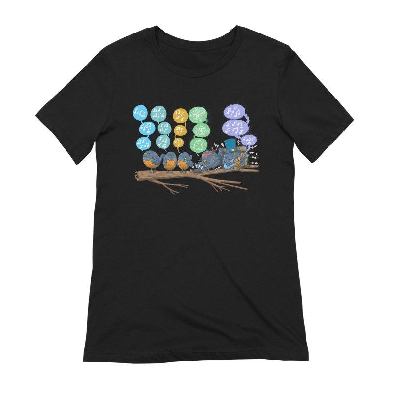 Spring Birds Women's Extra Soft T-Shirt by nickv47