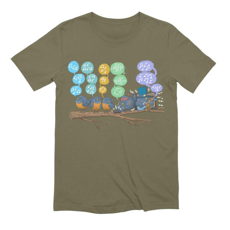 Spring Birds Men's Extra Soft T-Shirt by nickv47