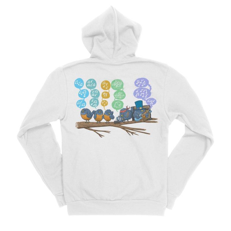 Spring Birds Men's Sponge Fleece Zip-Up Hoody by nickv47