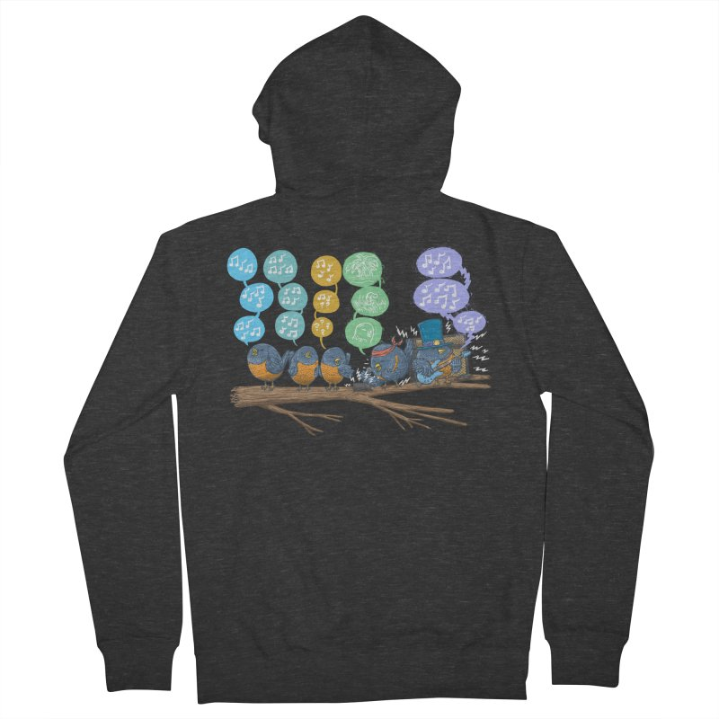 Spring Birds Women's French Terry Zip-Up Hoody by nickv47