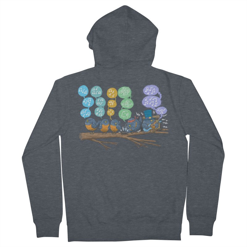 Spring Birds Men's French Terry Zip-Up Hoody by nickv47