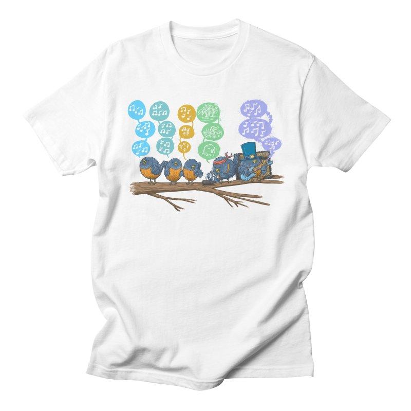 Spring Birds Men's Regular T-Shirt by nickv47