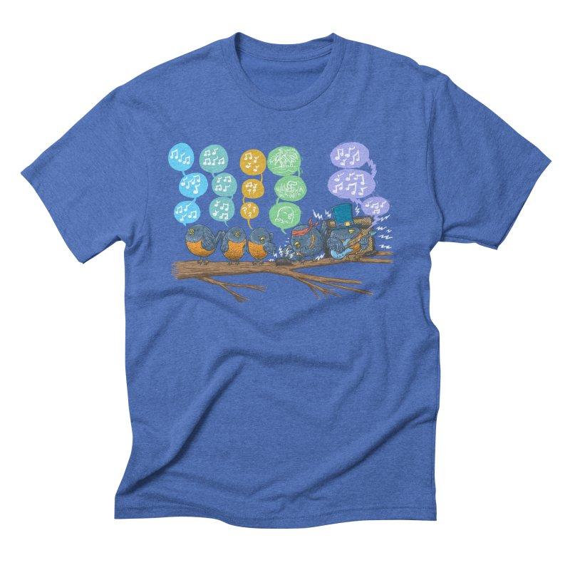 Spring Birds Men's Triblend T-Shirt by nickv47