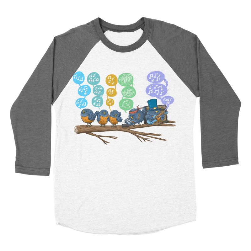 Spring Birds Women's Baseball Triblend Longsleeve T-Shirt by nickv47