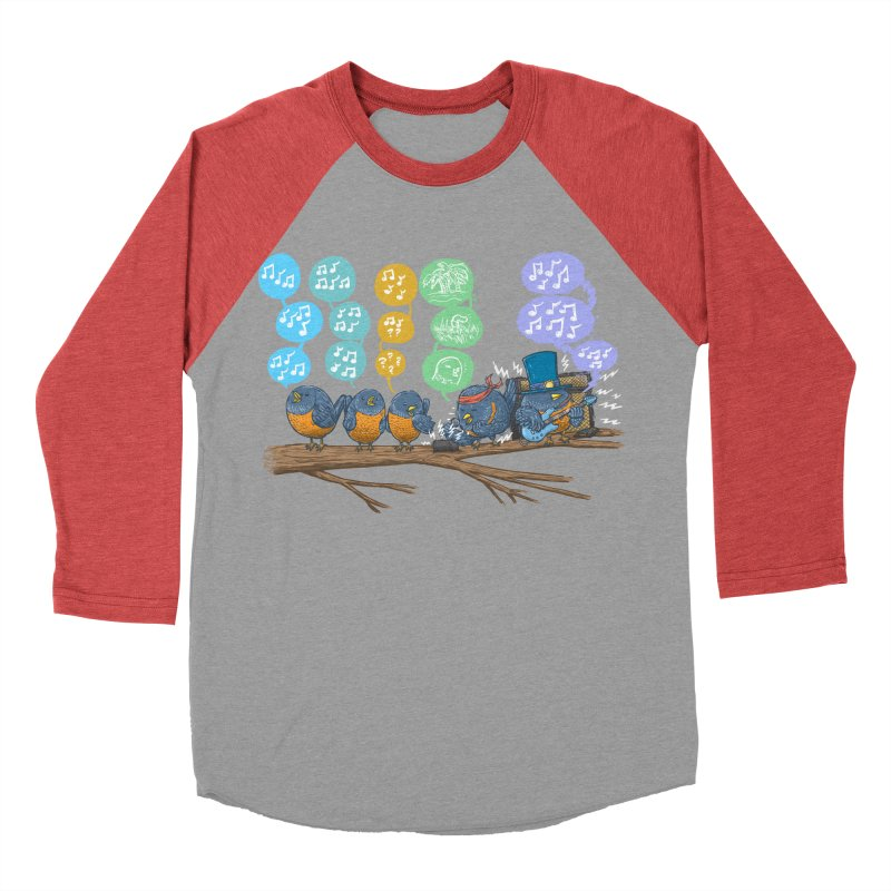 Spring Birds Men's Baseball Triblend Longsleeve T-Shirt by nickv47