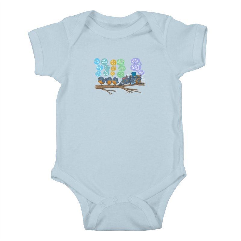 Spring Birds Kids Baby Bodysuit by nickv47