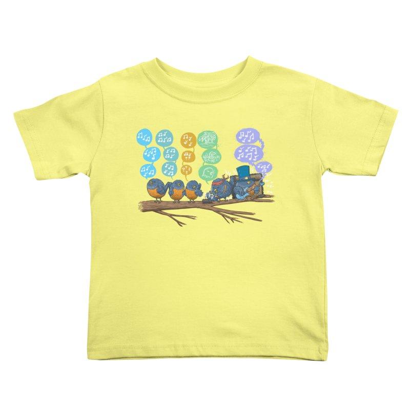 Spring Birds Kids Toddler T-Shirt by nickv47