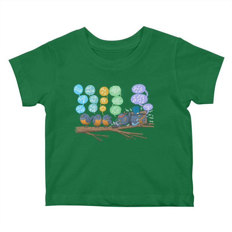 Spring Birds Kids Baby T-Shirt by nickv47