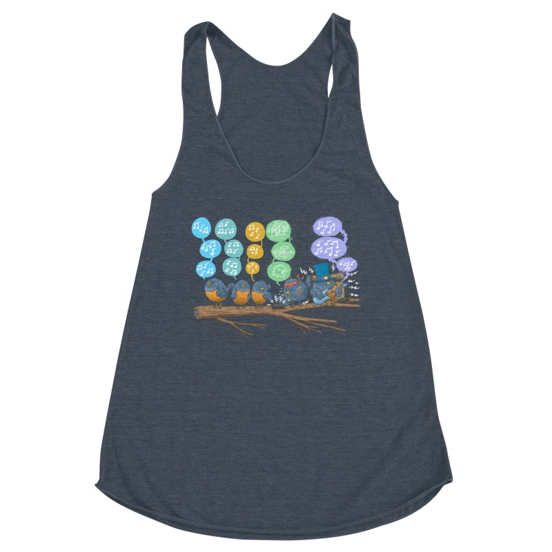 Spring Birds Women's Racerback Triblend Tank by nickv47