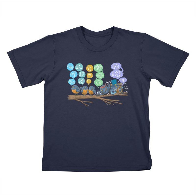 Spring Birds Kids T-Shirt by nickv47