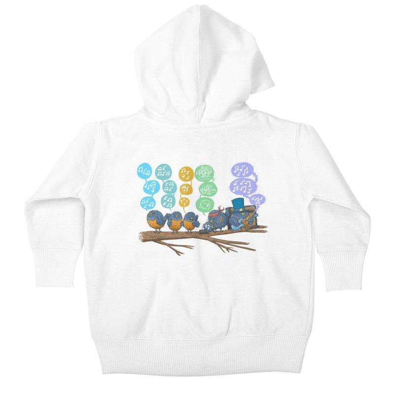 Spring Birds Kids Baby Zip-Up Hoody by nickv47