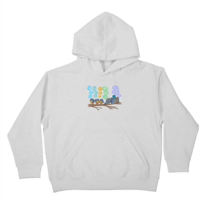 Spring Birds Kids Pullover Hoody by nickv47