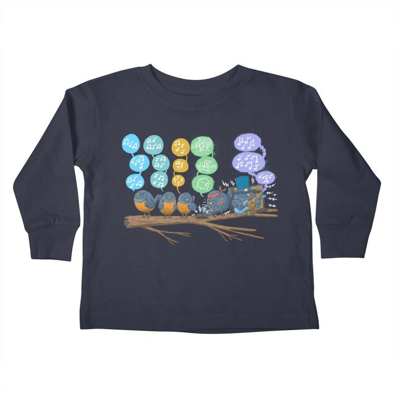 Spring Birds Kids Toddler Longsleeve T-Shirt by nickv47