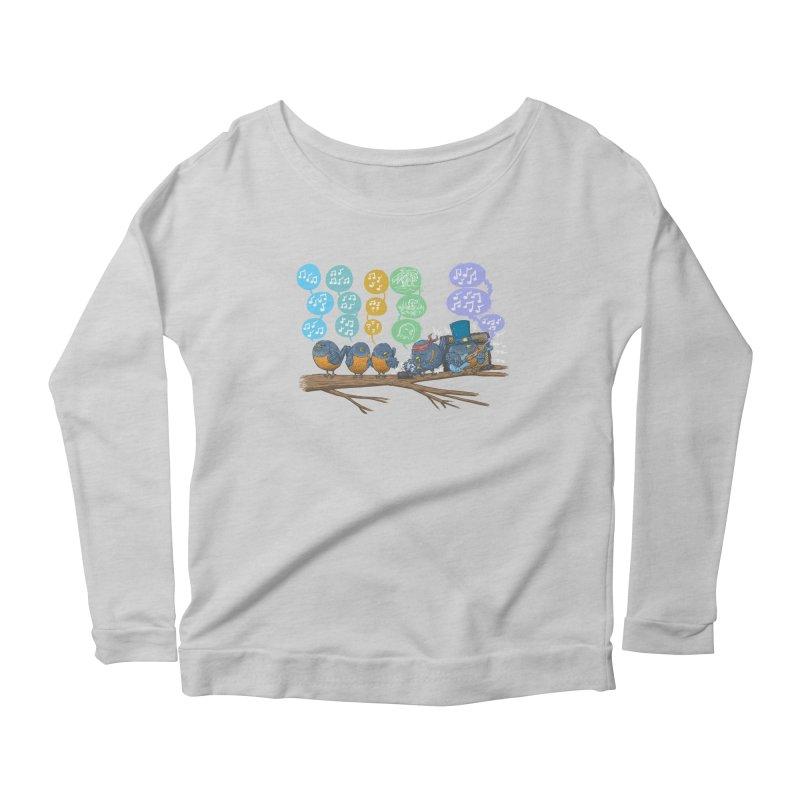 Spring Birds Women's Scoop Neck Longsleeve T-Shirt by nickv47