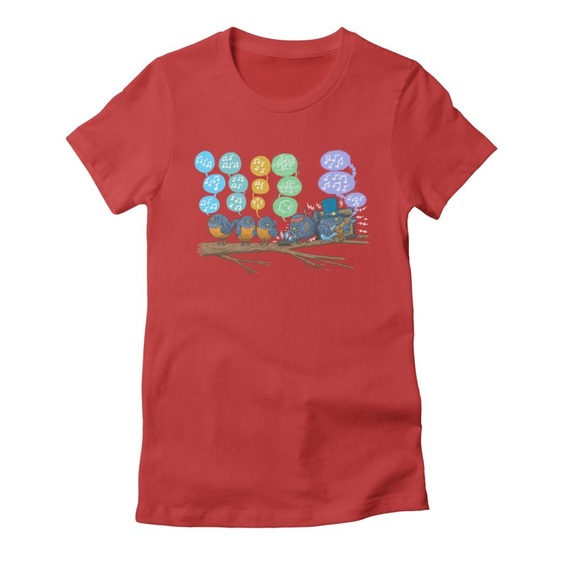 Spring Birds Women's Fitted T-Shirt by nickv47