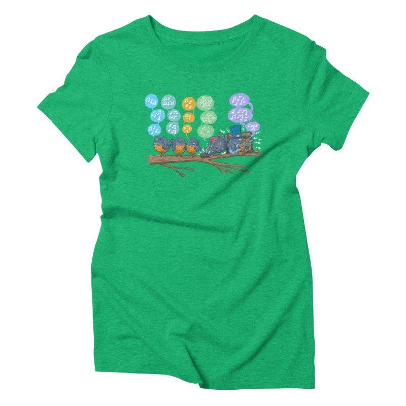Spring Birds Women's Triblend T-Shirt by nickv47