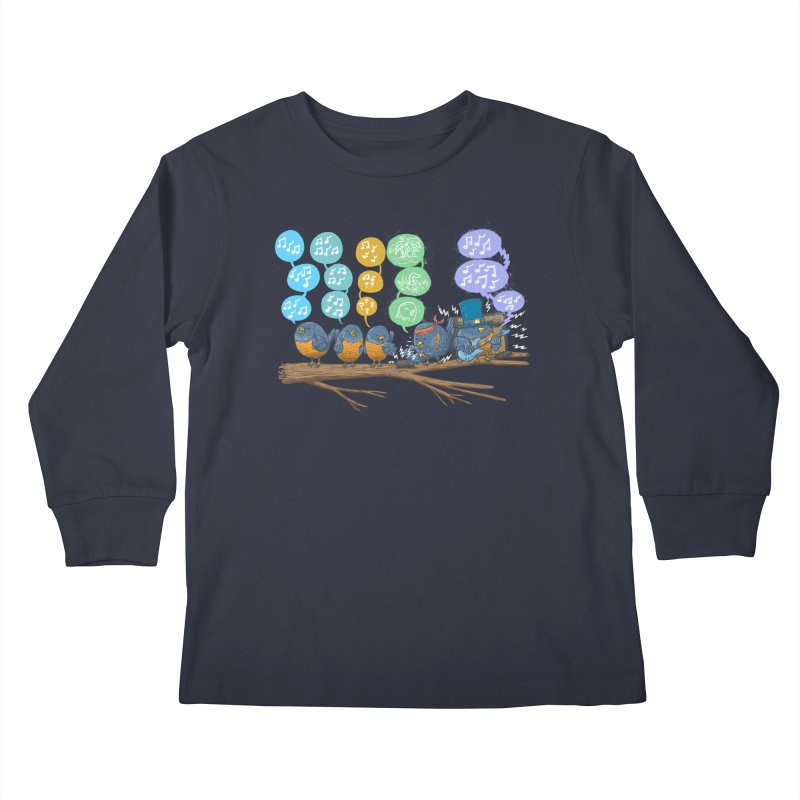 Spring Birds Kids Longsleeve T-Shirt by nickv47