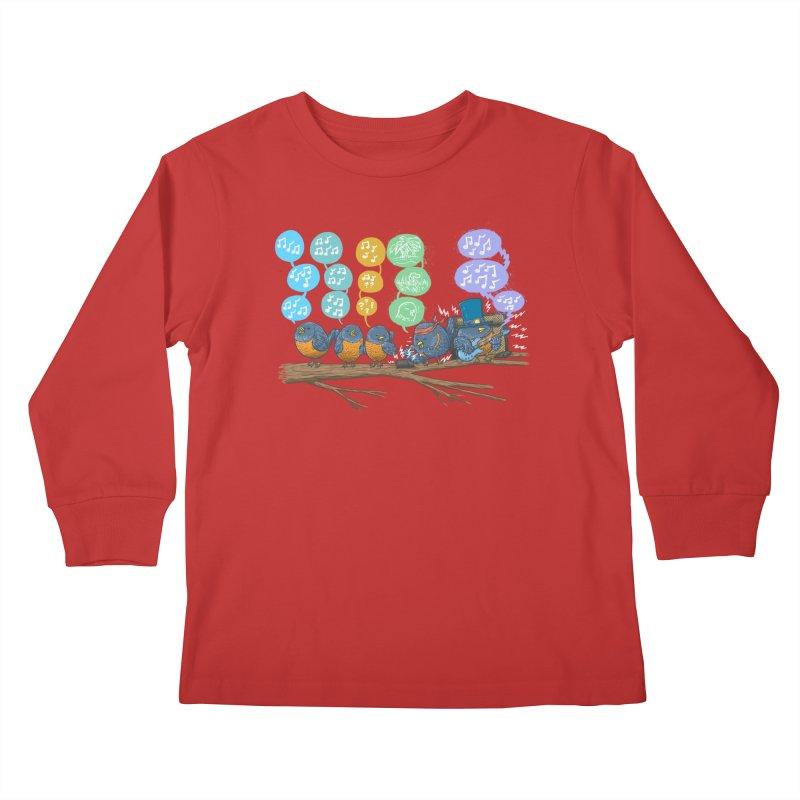 Spring Birds Kids Longsleeve T-Shirt by nickv47