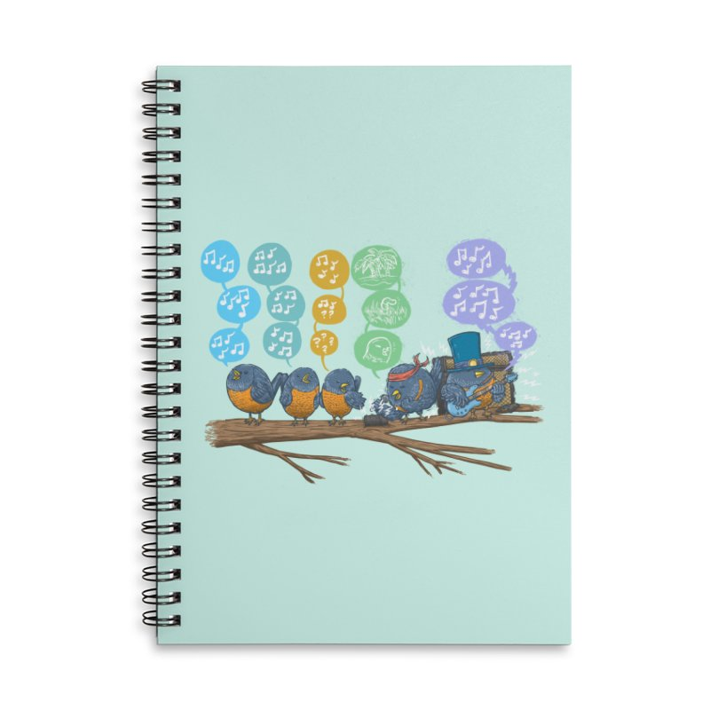 Spring Birds Accessories Lined Spiral Notebook by nickv47