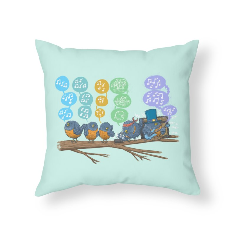 Spring Birds Home Throw Pillow by nickv47