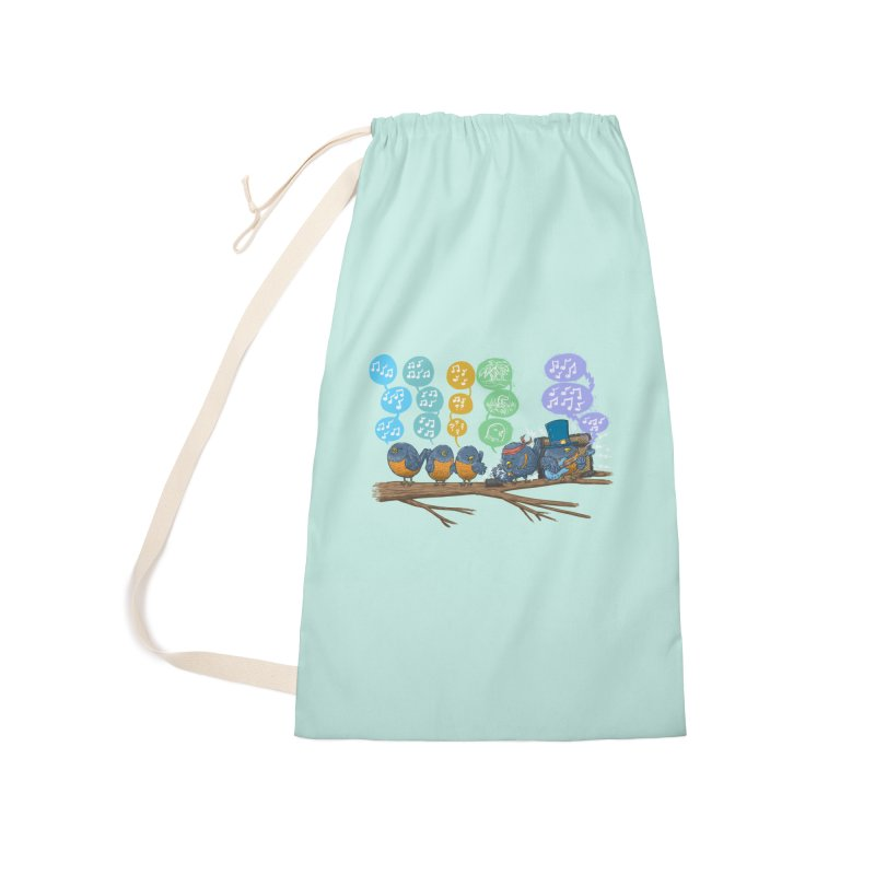 Spring Birds Accessories Laundry Bag Bag by nickv47