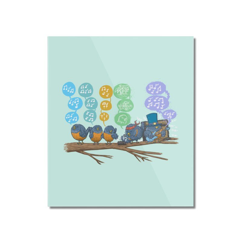 Spring Birds Home Mounted Acrylic Print by nickv47