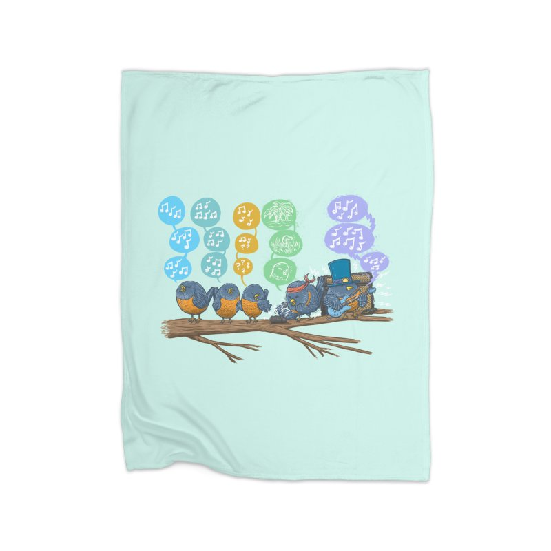 Spring Birds Home Fleece Blanket Blanket by nickv47