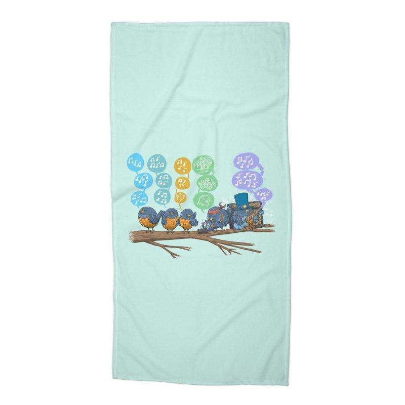 Spring Birds Accessories Beach Towel by nickv47