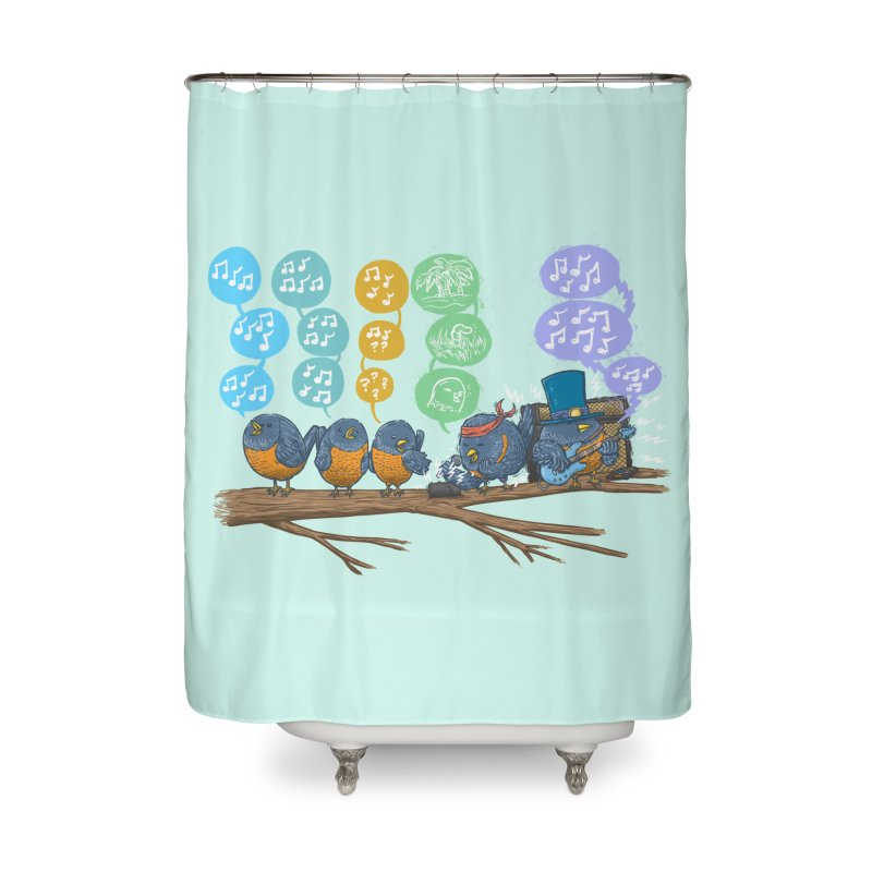 Spring Birds Home Shower Curtain by nickv47
