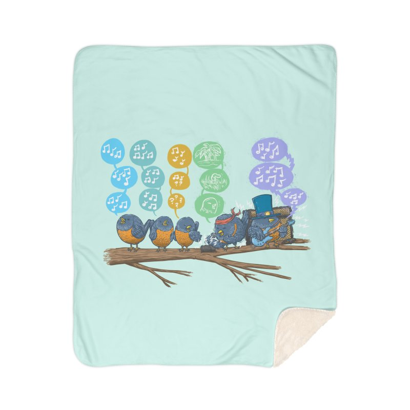 Spring Birds Home Sherpa Blanket Blanket by nickv47