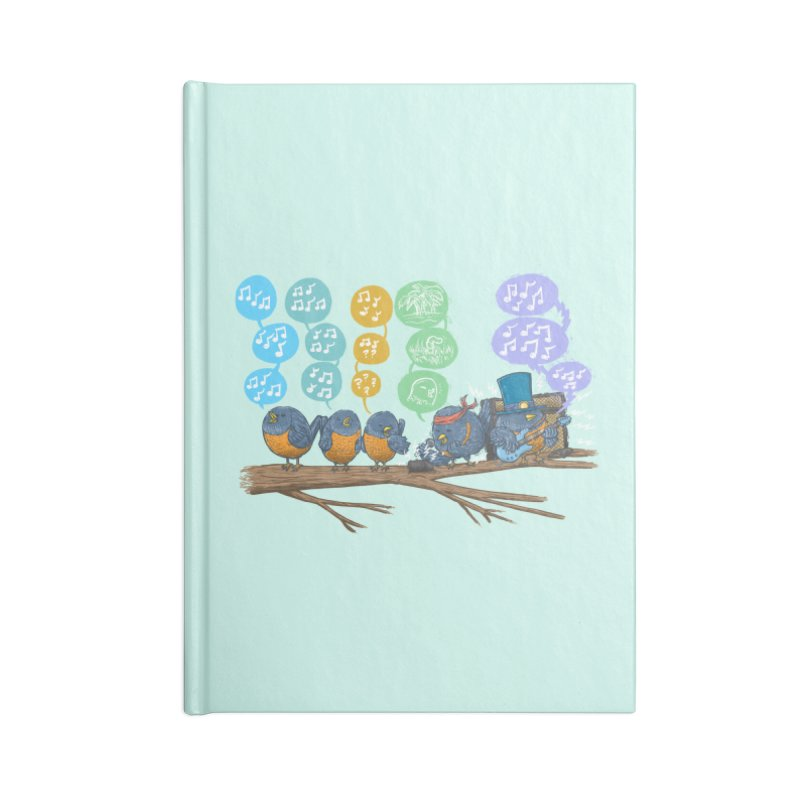 Spring Birds Accessories Lined Journal Notebook by nickv47