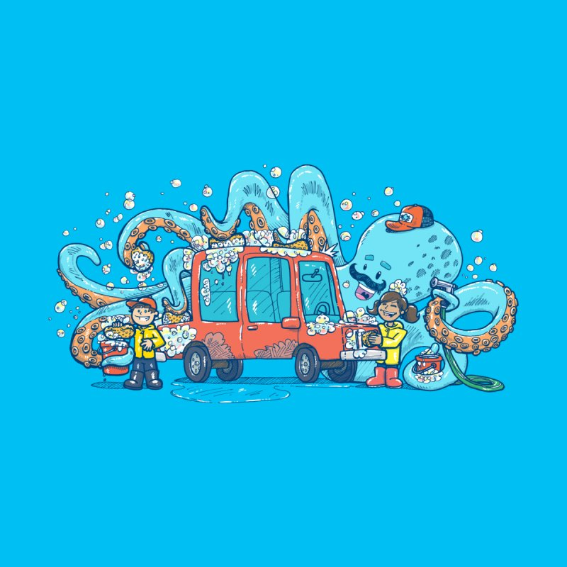 Octopus Carwash Accessories Skateboard by nickv47