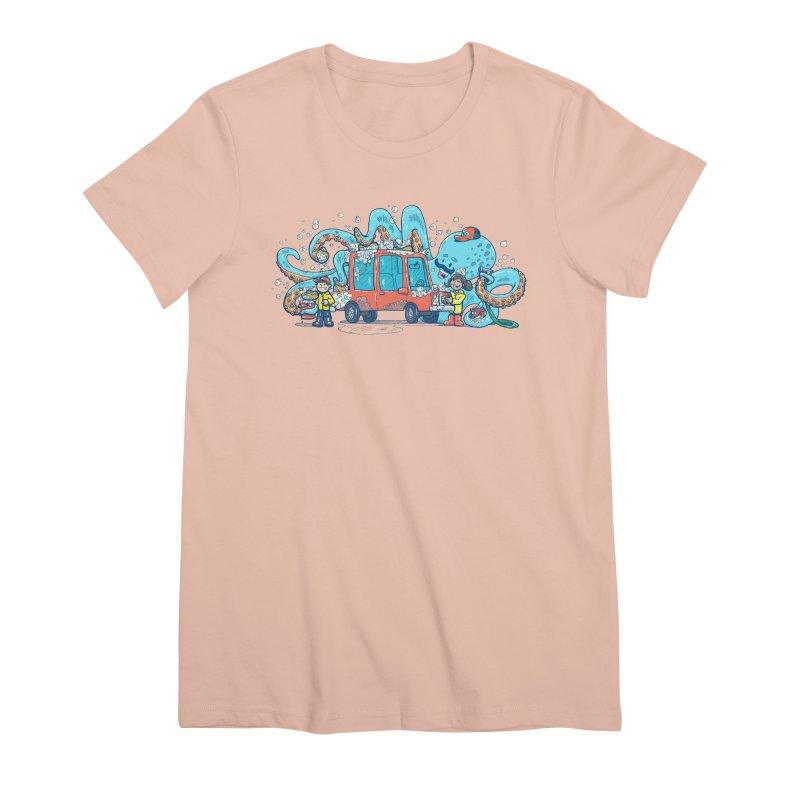 Octopus Carwash Women's Premium T-Shirt by nickv47