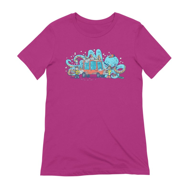 Octopus Carwash Women's Extra Soft T-Shirt by nickv47