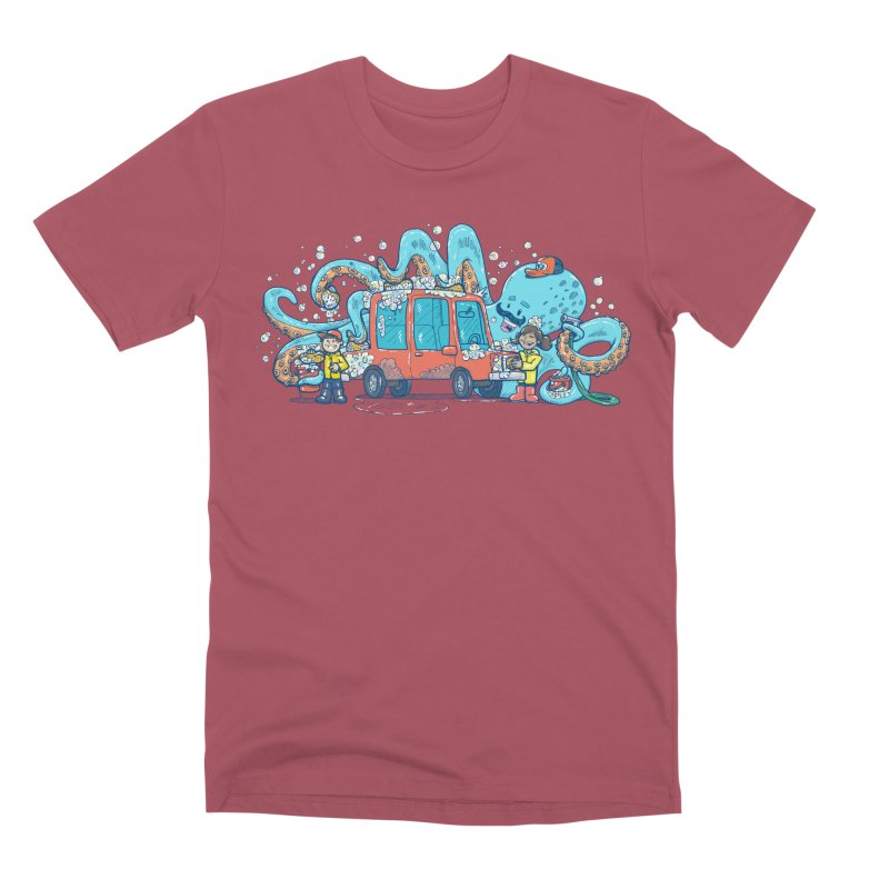 Octopus Carwash Men's Premium T-Shirt by nickv47