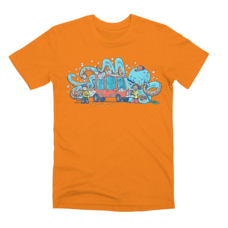 Octopus Carwash Men's T-Shirt by nickv47