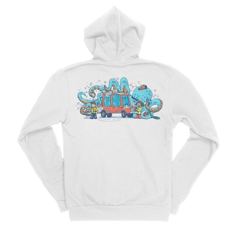 Octopus Carwash Men's Sponge Fleece Zip-Up Hoody by nickv47